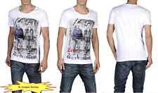 DIESEL Men Crew-Neck T-Kufca RS T-Shirts White NEW NWT