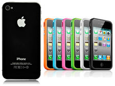 Genuine Black Back Cover Glass Panel for iPhone 4 4G Free Bumper Case 26 Colours