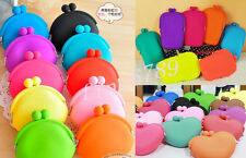 New Fashion Lady Girl Silicone Coin Purse Rubber Wallets Case Bag Pouch Style
