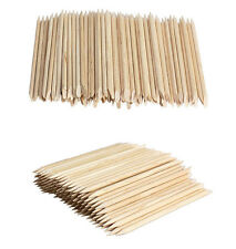 100pcs Orangewood Sticks Nail Art Orange Wood Manicure Cuticle Remover Pusher