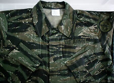 New MENS Army Style US VIETNAM RIPSTOP Jacket TIGER STRIPE CAMO with Motifs
