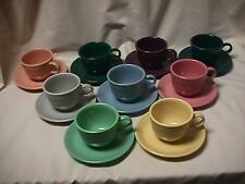 FIESTA CUP & SAUCER-1ST.QUALITY-CHOICE OF RETIRED COLORS