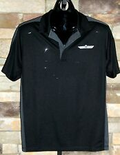 Bourget's Bike Works S/S OGIO Trax Embroidered Polo Shirts! Black & Gray
