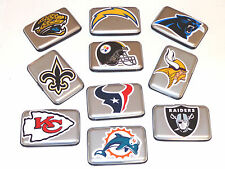 ALUMA SECURITY WALLETS WITH NFL TEAM LOGOS,  RFID BLOCKING, NFL MEMORABILIA