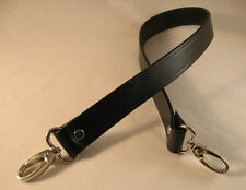 1 in. Black Leather Cross Body Shoulder/Purse/Messenger Bag Replacement Strap