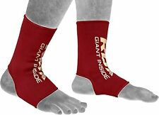Authentic RDX Ankle Foot Support Anklet Pair Pads MMA Brace Guard Muay Thai US