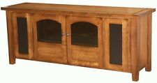 Amish TV Stand Cabinet Solid Wood Speakers Storage Television Shaker