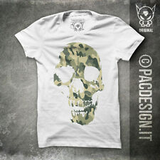 T-SHIRT TATTOO OLD SCHOOL SKULL ROCK CAMO WHY SO HAPPINESS