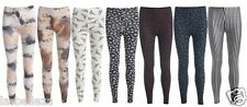 NEW LADIES WOMENS GIRLS LEGGINGS SKULL IN 4 COLOURS AND AZTEC SIZE UK 8-14