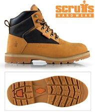 MENS LEATHER WORK SAFETY ANKLE STEEL TOE CAP LADIES HIKER BOOTS SHOES TRAINERS