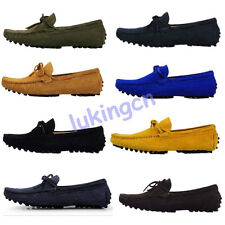 Hot Sale Mens Suede Leather Slip On Loafer Moccasin Driving Comfort Casual Shoes