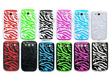 14 Colors 2in1 Zebra Combo Hard Soft Case Cover for Samsung Galaxy S3 III i9300