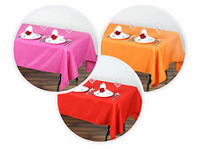 """60x102"""" Polyester Rectangular Tablecloth Wedding Catering Table Linen Decoration"""