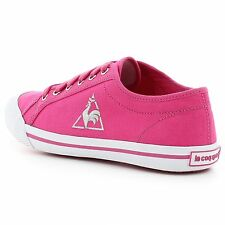 Le Coq Sportif Deauville Fushia Purple Cotton Women's Shoes *All Sizes
