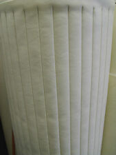 White Marine Vinyl Supplies Replacement Boat Seating -Pleats, Piping, Hydem,Ect.