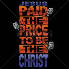 Religious Tshirt Jesus Paid The Price To Be The Christ Bible Cross Nails Savior