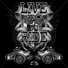 Biker Fitted Shirt Live To Ride Trikes Spider Bike 3 Wheels Chopper Motorcycle