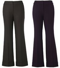 LADIES SIMPLY BE STRETCH BOOTCUT KICK FLARE PURPLE BROWN TROUSER ALL LEG LENGTHS