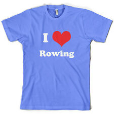I Love Rowing - Mens T-Shirt - 10 Colours - Equipment - Row - Rower  - Present