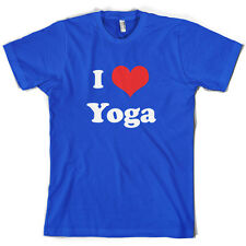 I Love Yoga - Mens T-Shirt - 10 Colours- Free UK delivery - Exercise - Equipment