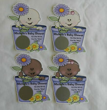 UNIQUE PERSONALIZED A BABY IS BLOOMING BABY SHOWER SCRATCH OFF LOTTO GAME CARDS