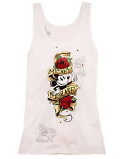 Disney Parks Authentic Rose Tattoo Mickey Mouse Juniors Womens Tank Top Sz M L