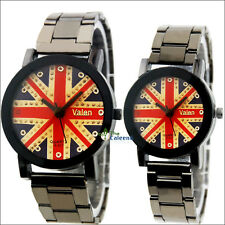 New fashion quartz watch stainless steel band classic British flag lover gifts