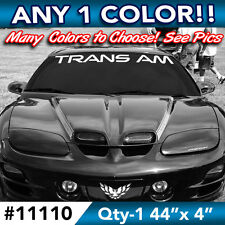 "PONTIAC TRANS AM WORD WINDSHIELD DECAL STICKER 44""w x4""h in ANY COLOR"