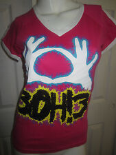Hot Topic: 3OH!3 Rock Band V Neck T-Shirt  NWOT Juniors