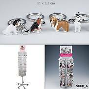 Animal Love Dog Key rings 24 Different Painted Metal Dog Charms to choose from