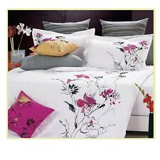 New Stunning pink flowers Luxury Duvet Cover 3pcs Set QUEEN AND KING AVAILABLE