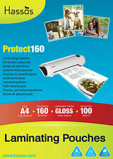 Bulk Wholesale A4 Gloss Laminate Laminating Laminator Pouch Pouches 160 Micron