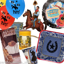 Wild West Cowboy Western Tableware Scene Setters Party Decorations PS