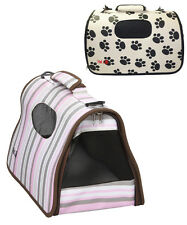 AIRLINE APPROVED 'CAGE' FOLDING COLLAPSIBLE PET DOG CARRIER CRATE TOTE BAG - B8