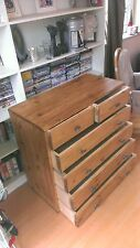 Handmade bespoke wood wooden 2 and 4 drawer chest unit 4 bedroom in pine or oak