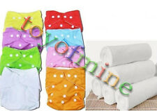 New Adjustable Reusable Baby Washable Cloth Diaper Nappy Covers Cotton inserts