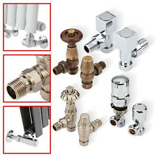 "15mm x ½"" Angled & Straight Radiator Valves - Thermostatic & Manual - Designer"