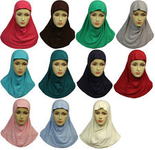Islamic Hijab Scarf One Piece Al Amira Khimar. Regular childrens size 18 colours