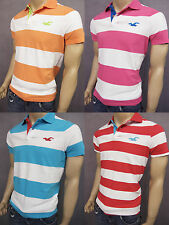NWT HOLLISTER SHORT SLEEVE MEN SLIM MUSCLE FIT STRIPE POLO T SHIRT TEE
