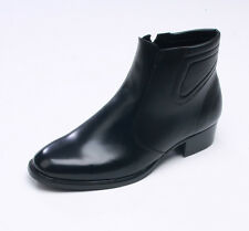 STORE IN KOREA. Mens real leather  BASIC side zip ankle boots black  (m 147)