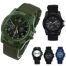 Army Sport Style Canvas Belt Luminous Quartz Wrist Watch BD1U
