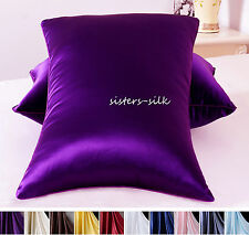 1 PC 30MM 100% HEAVY WEIGHT SILK PILLOWCASE SIDE ZIPPER CLOSURE STYLE ALL SIZE