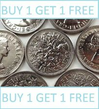 Lucky Silver Sixpences Order 2 Get 1 Free with Free Postage Choice of Date