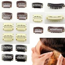 Hot Any color Weft U-shape Metal Snap Clips for hair extensions wigs 32*16MM