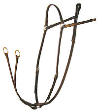 Ascot Leather Breastplate With Running Attachment Black/Brown all sizes