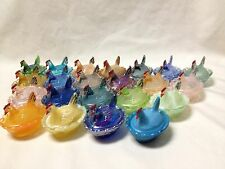 BOYD GLASS HANDPAINTED CHICK SALT-CHOICE OF COLORS-SALE.