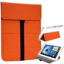 New! Kroo Leather Tablet Sleeve Pouch Case Cover Guard with Built in Stand Orang