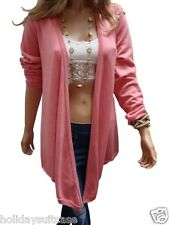 NEW LADIES WOMANS CORAL PINK WATERFALL CARDIGAN/WRAP TOP PLUS SIZE 12-26 UK