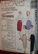 7244 Vintage McCalls SEWING Pattern Misses EASY Skirts UNCUT OOP FF SEW