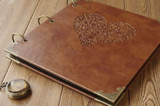 NEW  Retro Photo album High-grade leather stamping handmade DIY gift albums